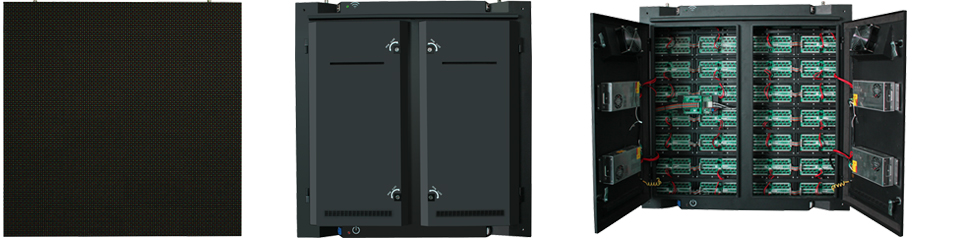 Back door maintenance LED display cabinet